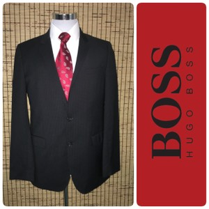 Hugo Boss Black Men's Wool Blazer Plaid 2-button Tuxedo