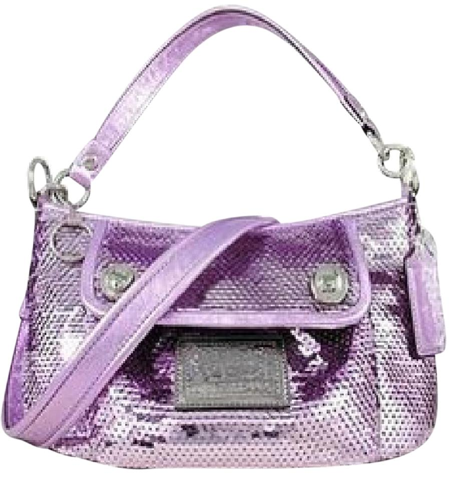 21dde4556696 Coach 15381 Poppy Sequin Groovy Occasonal Evening Convertible Lilac ...