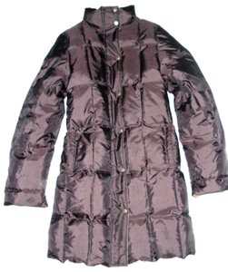 Nordstrom France Duck Down Long Quilted Reversible Coat