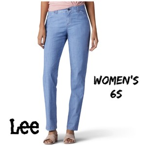 Lee Straight Pants chambray