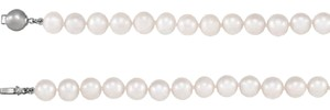 Apples of Gold SINGLE STRAND FRESHWATER PEARL BRACELET IN SILVER