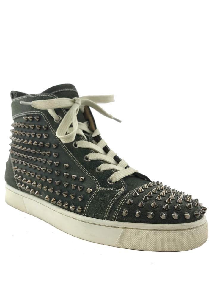 d7cf156e0d5b Christian Louboutin Green Men s Louis Spikes Sneakers Size US 8 ...