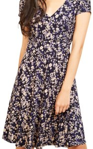 Modcloth short dress black, with purple, tan and white on Tradesy