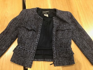 Chanel Chaneljacket Vintagechanel Louisvuitton Multi Tweed Blue Blazer