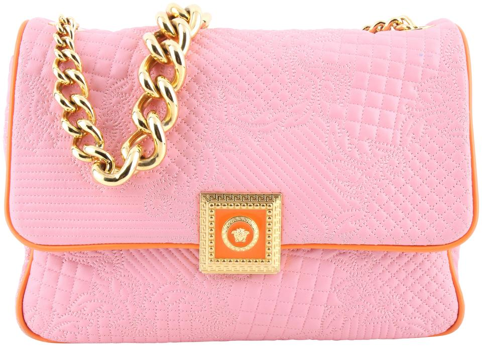 1f4a6f8a6d8 Versace Orange Micro Vanitas Quilted New Icon Handbag Pink Leather ...