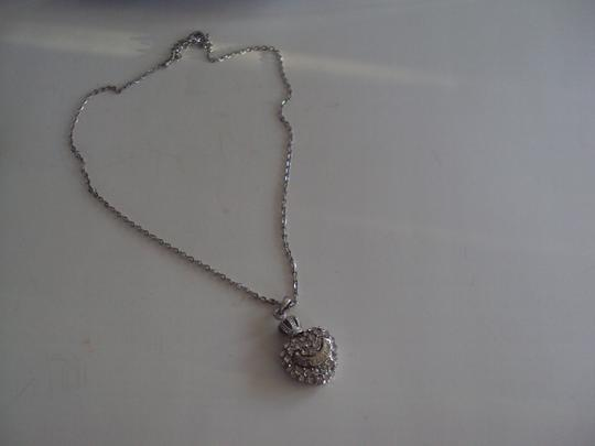 Juicy Couture Juicy Couture Rhinestone Heart Necklace 18