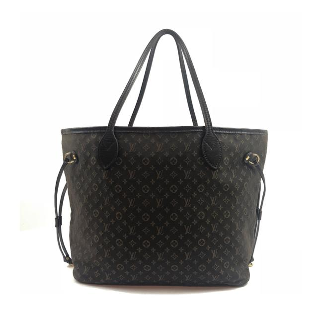 Item - Neverfull Idylle Mm Gray/Brown Fabric Tote