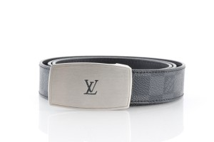 Louis Vuitton Louis Vuitton Damier Graphite LV Cut Long Reversible Belt