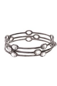 Ippolita Ippolita Wicked Rock Candy Bangle Bracelet Set - Silver