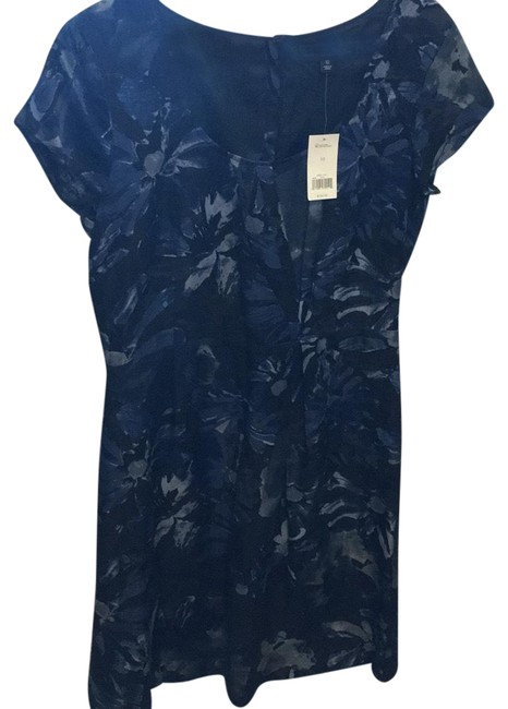 Item - Black and Navy Mid-length Work/Office Dress Size 10 (M)