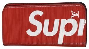 Louis Vuitton x Supreme Louis Vuitton Limited Edition Supreme Red Epi Iphone 7 Folio Case.