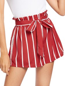 SheIn Dress Shorts Red and white