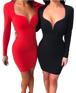 Nookie Going Out Sexy Long Sleeve Holiday Dress