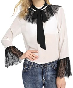 SheIn Button Down Shirt White and black