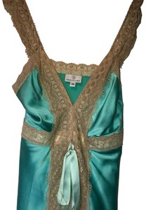 Miguelina Top turquoise and cream