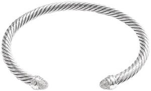 "David Yurman GORGEOUS!! David Yurman Pave Diamond Cable Bracelet Sterling Silver 5mm 0.26 carats Total Weight Size: Small 6.75"" 100% Authentic Guaranteed!! Comes with original David Yurman pouch!!"