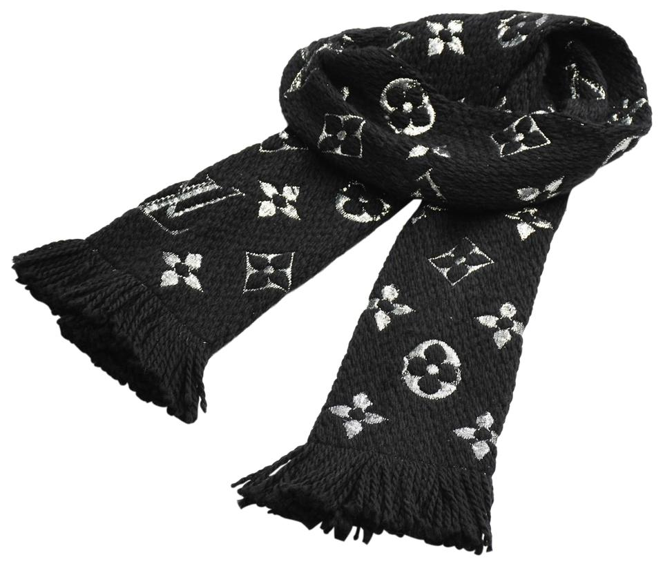 Louis Vuitton Louis Vuitton Monogram Scarf - Black   Silver ... f5e018ba10f