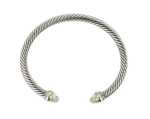 David Yurman Diamond and 14K Gold Cable Classics