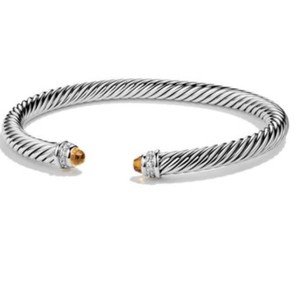 """David Yurman GORGEOUS David Yurman Citrine and Diamond Classic Cable Cuff Bracelet Sterling Silver 5mm Size: Medium 7.25"""" 100% Authentic Guaranteed!! Comes with Original David Yurman Pouch!! NEVER WORN! BRAND NEW WITHOUT TAGS!!"""