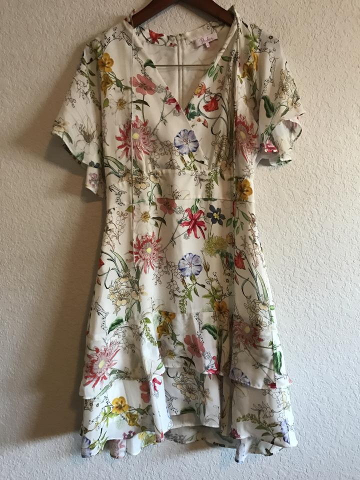07b902e7cf514 Parker Natalie Floral-print Silk Short Cocktail Dress Size 2 (XS) - Tradesy