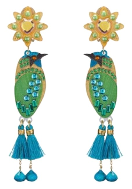 Item - Turquoise and Green Petite Toh From Yucatán Earrings