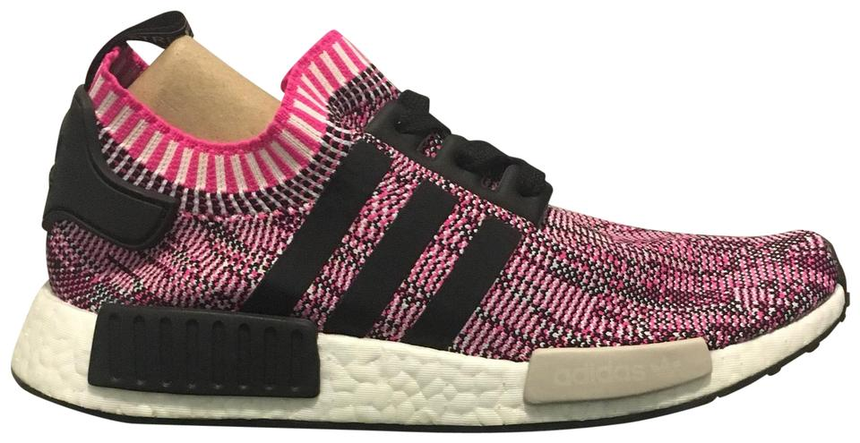 f1884927354e5 adidas Pink and Black Nmd r1 Primeknit Sneakers Size US 9 Regular (M ...