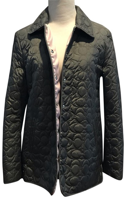 Item - Grey Gray Purple Rn#132154 Logo Quilted Jacket Coat Size 4 (S)