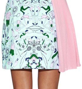 MARY KATRANTZOU Mini Skirt multi color mint/pink/purple