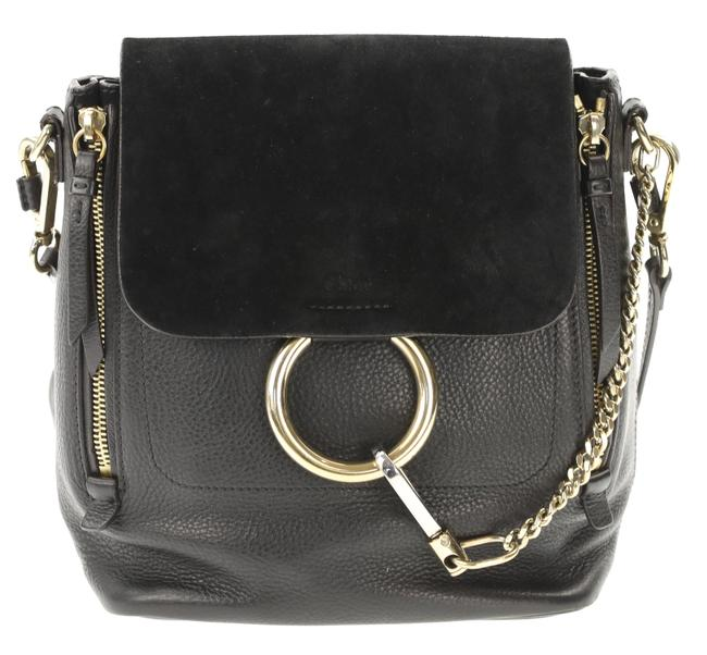 Item - Faye Small Black Leather Backpack