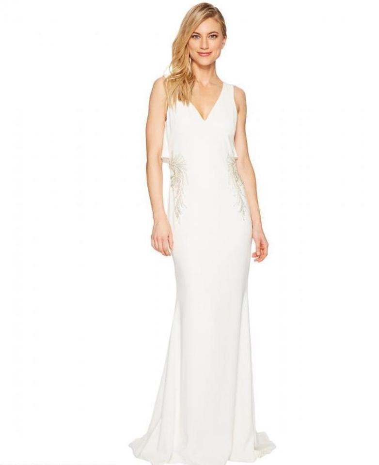 Badgley Mischka Wedding Gown: Badgley Mischka Ivory Flair Back Gown Formal Wedding Dress