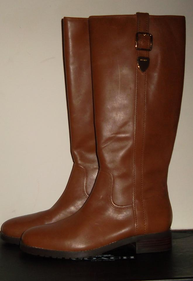 f4bf1405485 Coach Brown Easton Riding Boots Booties Size US 9.5 Regular (M
