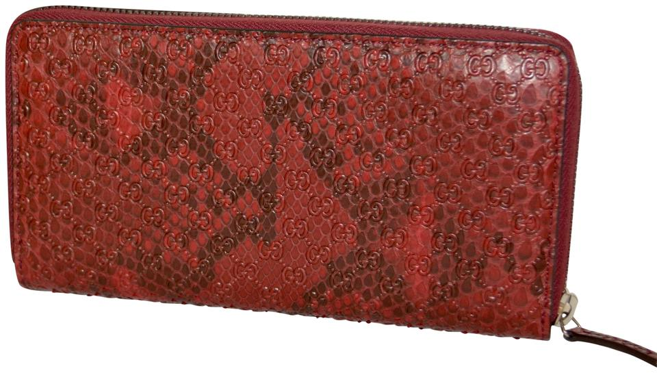 ec3707c7354f ... gucci red python micro gg leather made in italy wallet tradesy ...
