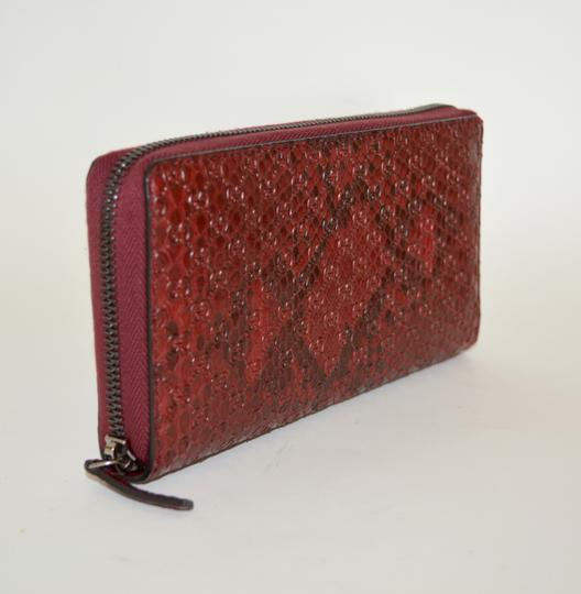 Gucci NIB GUCCI PYTHON MICRO GG LEATHER WALLET MADE IN ITALY Image 1