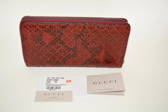 Gucci NIB GUCCI PYTHON MICRO GG LEATHER WALLET MADE IN ITALY Image 3