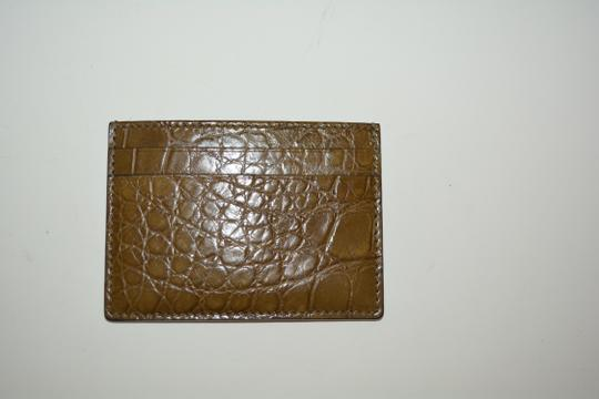 Gucci NIB GUCCI CROCODILE LEATHER CARD CASE WALLET MADE IN ITALY Image 3