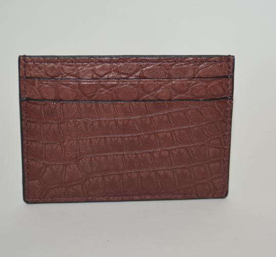 Gucci NIB GUCCI CROCODILE LEATHER CARD CASE WALLET MADE IN ITALY Image 1