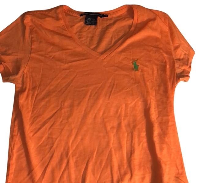 Item - Orange V-neck T-shirt Tee Shirt Size 4 (S)