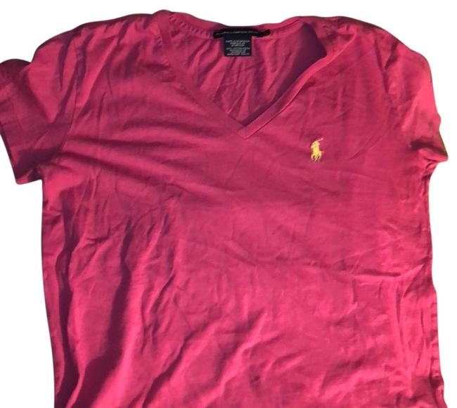 Item - Pink V-necked T-shirt Tee Shirt Size 4 (S)