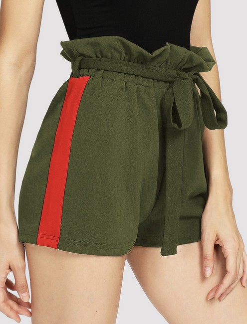 SheIn Dress Shorts Dark green and red Image 2