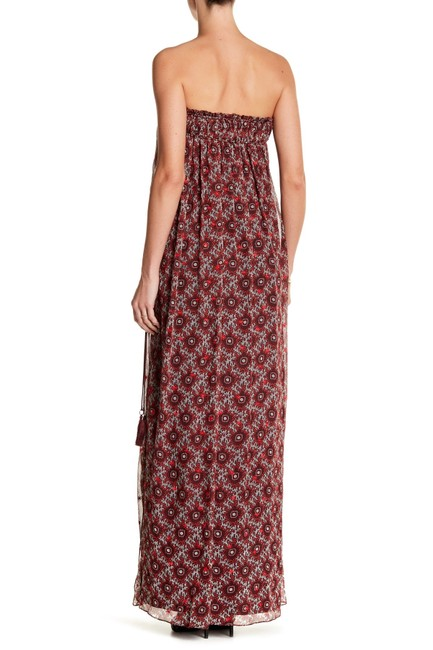 Burgundy Maxi Dress by Cinq à Sept Maxi Strapless Women Image 1