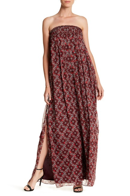 Burgundy Maxi Dress by Cinq à Sept Maxi Strapless Women Image 2