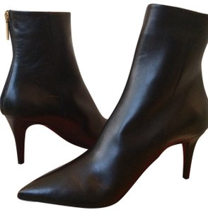 Tamara Mellon Leather Pointed Toe Ankle Black Boots