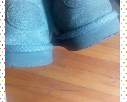 American Eagle Outfitters Winter Fall Suede Faux Leather Comfortable Gray Boots Image 3