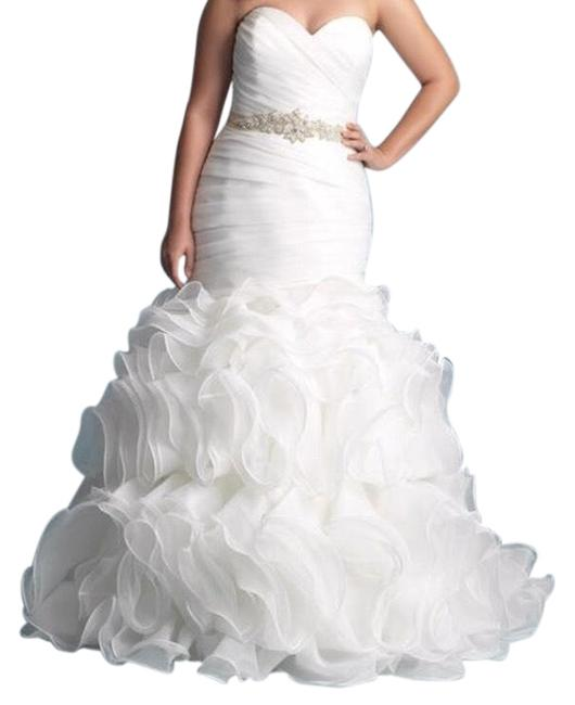 Preload https://img-static.tradesy.com/item/24187728/allure-bridals-white-with-silver-belt-wedding-gown-long-formal-dress-size-8-m-0-1-650-650.jpg