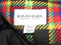 Emanuel Ungaro Black Wool with Red Yellow Blue and Green Window Pane Plaid Clothes/Designer Clothes Blazer Size 10 (M) Emanuel Ungaro Black Wool with Red Yellow Blue and Green Window Pane Plaid Clothes/Designer Clothes Blazer Size 10 (M) Image 11
