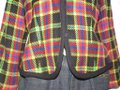 Emanuel Ungaro Black Wool with Red Yellow Blue and Green Window Pane Plaid Clothes/Designer Clothes Blazer Size 10 (M) Emanuel Ungaro Black Wool with Red Yellow Blue and Green Window Pane Plaid Clothes/Designer Clothes Blazer Size 10 (M) Image 6