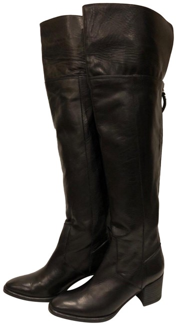 Etienne Aigner Black New Over The Knee Leather Boots/Booties Size US 6 Regular (M, B) Etienne Aigner Black New Over The Knee Leather Boots/Booties Size US 6 Regular (M, B) Image 1