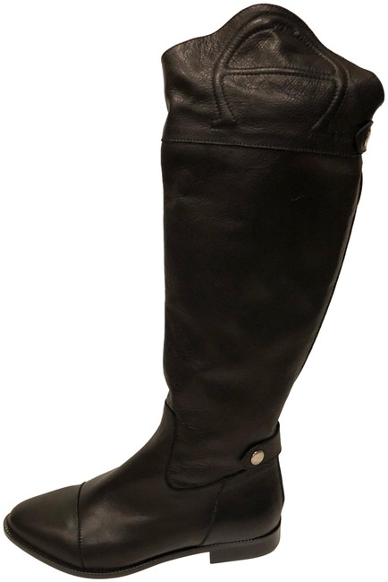 Etienne Aigner Black New Leather Tall Boots/Booties Size US 8 Regular (M, B) Etienne Aigner Black New Leather Tall Boots/Booties Size US 8 Regular (M, B) Image 1