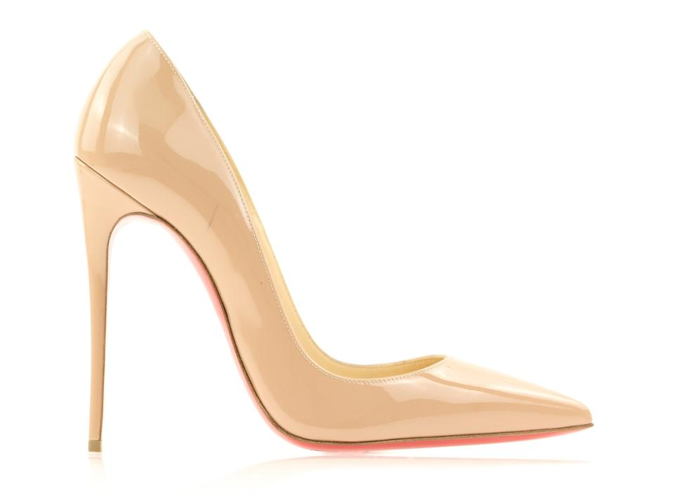 ec4fd868a9c8 Christian Louboutin So Kate Pigalle Pointed Toe Patent Leather Bianca Beige  Pumps Image 0 ...