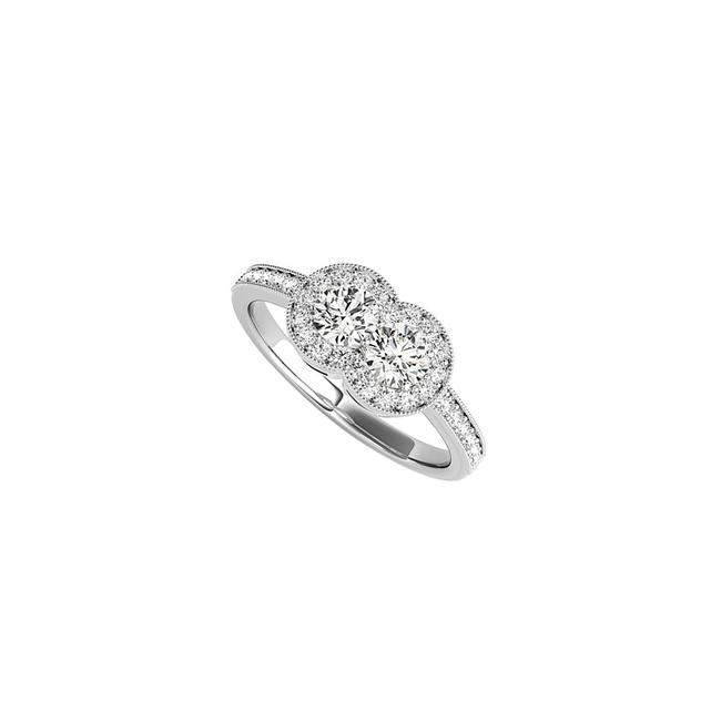 Unbranded White Bold Cz Two Stone 925 Sterling Silver 1.25 Ct Tgw Ring Unbranded White Bold Cz Two Stone 925 Sterling Silver 1.25 Ct Tgw Ring Image 1
